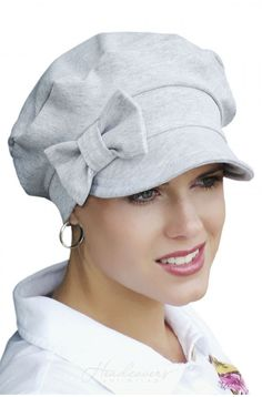 Newsboy Cap with Bow - Baseball Hats for Cancer Patients, Chemo Hat   Headcovers.com