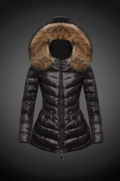 dd828aed084d 2015 Moncler Y 16 Fur Hooded down jacket for women in black  Moncler -    Moncler Online Shop Provide Moncler Jacket