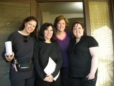 Team Houston - Christine, Ellen, Me and Janice - prior to decluttering firefighter, Trey.   #Hoarders