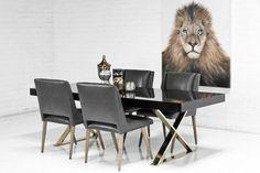 Gold X-Leg Dining Table                           | ModShop