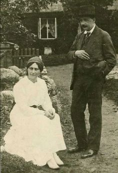 Albert Einstein and Elsa Lowenthal.