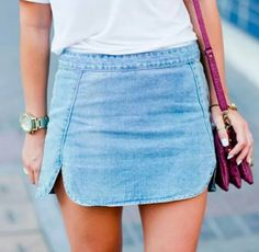Jeans skirt rollin' w the homies \\ Bikini Clothes outfit for woman * teens * dates * stylish * casual * fall * spring * winter * classic * casual * fun * cute* sparkle * summer * makeup * naked palette * love * lipstick * boy * life