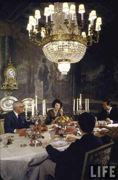 Villa Marino, 1964.  Vittorio De Sica, Sophia Loren, and Marcello Mastroianni.