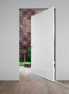 Lualdi - products - doors - recessed wall system - Compass 55