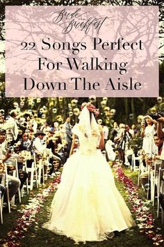 A few weeks ago, we rounded up some of our top picks for an upbeat first dance as a couple. Today, let's rewind a bit to the processional and talk about songs p