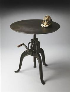 Industrial Chic Black Metal Hall Table