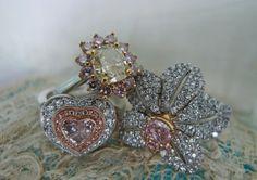 Fancy Coloured Diamond rings!