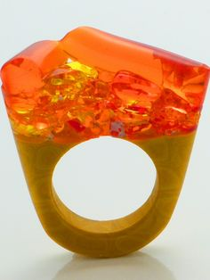 Murano Glass Ring - Hatred   NOT JUST A LABEL
