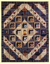 "Heart and Home Pattern: $12.95 Quilt Size: 86"" x 108""  Block Size: 11.25"" square         Pattern includes twelve 6"" block patterns, house and log cabin block construction as well as applique short cuts and ""Special Tips for Working with Small Blocks"". Great Block of the Month project."