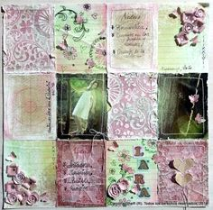 Scrapbooking - Efecto desgastado sobre papel - Carolina Ghelfi