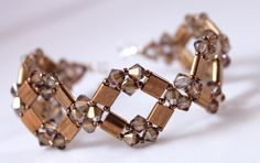 The Diamond Tila Bracelet and Earrings pattern is here: http://www.aroundthebeadingtable.com/Patterns/DiamondTila.html