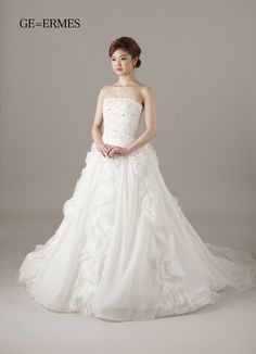 ERMES One Shoulder Wedding Dress, Wedding Dresses, Fashion, Bride Dresses, Moda, Bridal Gowns, Fashion Styles, Weeding Dresses, Wedding Dressses