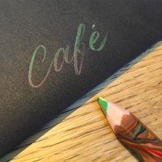 Café  #colorful #pencil #cafe #coffee #terrace #color