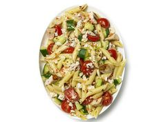 Mix and Match Pasta Salad: 1. Pick a Pasta  2. Pick a protein 3. Pick your vegetables  4. Pick a mix-in  5. Dress the salad