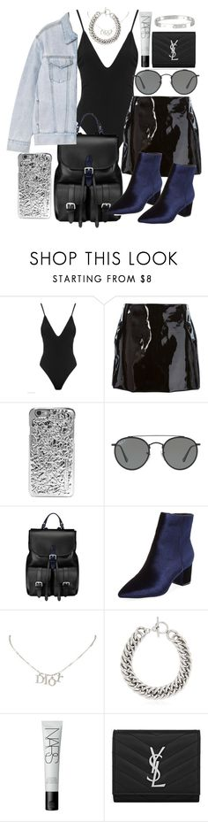 """""""Untitled #21037"""" by florencia95 ❤ liked on Polyvore featuring Au Jour Le Jour, Marc by Marc Jacobs, Ray-Ban, Aspinal of London, P & Lot, Steven by Steve Madden, Christian Dior, Yves Saint Laurent, NARS Cosmetics and Cartier"""