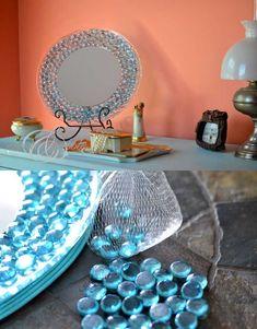 """15 bellissime idee """"Fai da te"""" per personalizzare uno specchio! Ispiratevi…"""