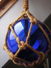 RARE Gros flotteur de filet, boule de marine, verre soufflé - 25cm de diamètre