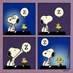 Snoopy takes Woodstock's sleep