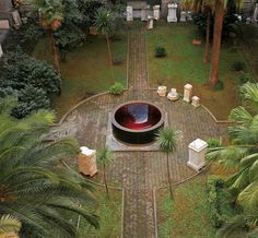 ANISH KAPOOR Turning Water Into Mirror Blood Into Sky A great example of a sculpture garden. He uses his signature red. Chelsea School Of Art, Anish Kapoor, Art Studies, Conceptual Art, Architectural Elements, Water Features, Installation Art, Blood, Sculptures