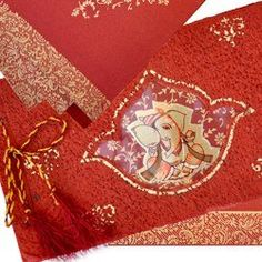 Elegant Design Of Hindu Wedding Invitations Is The Symbol Lord Ganesh This Card Synthesizes Traditional And Modern Look Unique Category