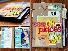 Bucket list album ---->brilliant idea!  Once you complete item on list, add another page to album!