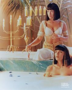 Xena and Gabrielle was in Egypt. She took over her good friend Egyptian Queen Cleopatra's throne temporary when she was died by poison from snake's bite. Roman General Brutus did it.