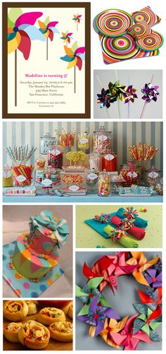 Pinwheel Birthday Theme - love me some pinwheels! Birthday Fun, First Birthday Parties, Birthday Party Themes, First Birthdays, Colorful Birthday, Birthday Ideas, 15th Birthday, Invitation Fete, Party Entertainment
