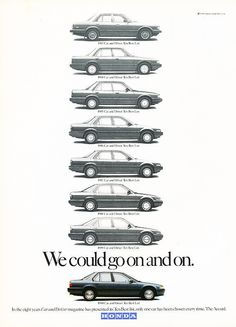 1990 Honda Accord - 10 Best Awards - Classic Vintage Advertisement