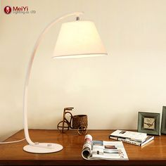 74.16$  Buy here - http://aliy14.worldwells.pw/go.php?t=32637679982 - hot sell desk lamp Home Decoration Romantic modern bedroom light fabric table lamps for Living Room Bedroom reading room 74.16$