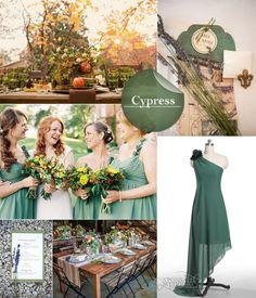 Cypress Green Wedding Inspiration Board