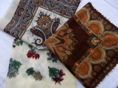 Lot of 3 vintage Altea  fine wool vintage scarves by CHEZELVIRE, $14.00