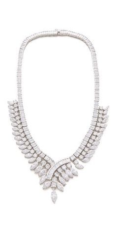 Love this from Kenneth Jay Lane. Wedding statement necklace.