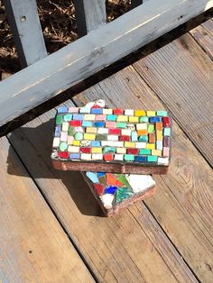 Mosaic bricks - for a door stopper for my front door.