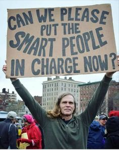 :) .. We need the people who really care about people and the planet and all its inhabitants to be running things!
