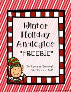 Free! Holiday Analogies....10 item Analogy Worksheet representing all three holidays (Kwanzaa, Hanukkah, and Christmas).