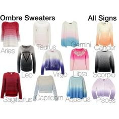 Ombre Sweaters-Zodiac Signs
