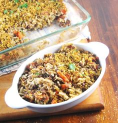 An easy, quick and healthy Lentil Orzo Bake casserole that's perfect for weeknights, and great for a brown-bag lunch.
