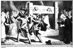 Puritans executing nonconformists