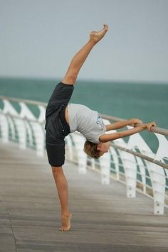 normal day at the beach for a dancer!