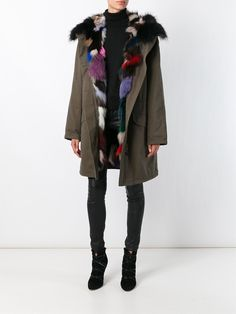 Army Yves Salomon Fox Fur Lined Parka - Petra Teufel - Farfetch.com