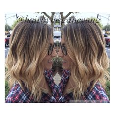 Blonde balayage with a long bob