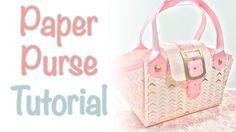 Paper Purse Tutorial | Craftiella Designs