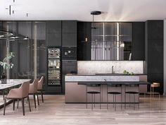 Modern Home Decor Kitchen Home Decor Kitchen, Kitchen Interior, Kitchen Design, Room Kitchen, Modern House Design, Modern Interior Design, Interior Design Courses Online, Apartment Interior Design, Behance
