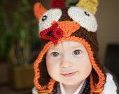 TURKEY Thanksgiving Hat - newborn to child sizes