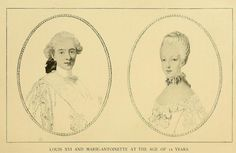 Louis XVI and Marie Antoinette at the age of 15 years.