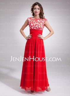 Mother of the Bride Dresses - $162.39 - A-Line/Princess Scoop Neck Floor-Length Chiffon  Charmeuse Mother of the Bride Dresses With Ruffle  Lace (008006309) http://jenjenhouse.com/A-line-Princess-Scoop-Neck-Floor-length-Chiffon--Charmeuse-Mother-Of-The-Bride-Dresses-With-Ruffle--Lace-008006309-g6309