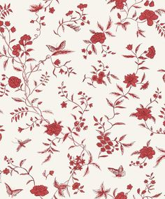 Stola Red wallpaper by Sandberg