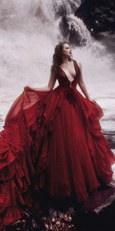Dark Romance: 18 Gothic Wedding Dresses ❤️ gothic wedding dresses a line dee. Dark Romance: 18 Gothic Wedding Dresses ❤️ gothic wedding dresses a line deep v neckline red malyarova olga ❤️ Full gallery: weddingdressesgui. Red Wedding Dresses, Wedding Gowns, Bridal Gowns, Wedding Cakes, Dark Romance, Fantasy Dress, Beautiful Gowns, Pretty Dresses, Dresses Dresses