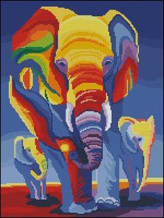 Gallery.ru / Coloured elephants - Дарю всем - tani211