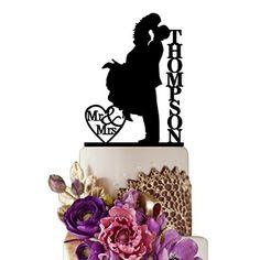 Sugar Yeti Made In USA Personalized Wedding Cake Topper Love Groom Kissing Bride #15 Black Sugar Yeti http://www.amazon.com/dp/B01BXCRESE/ref=cm_sw_r_pi_dp_4n6cxb0FEDZCE